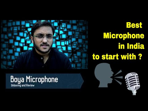 Boya microphone unboxing and review || Best Microphone in India