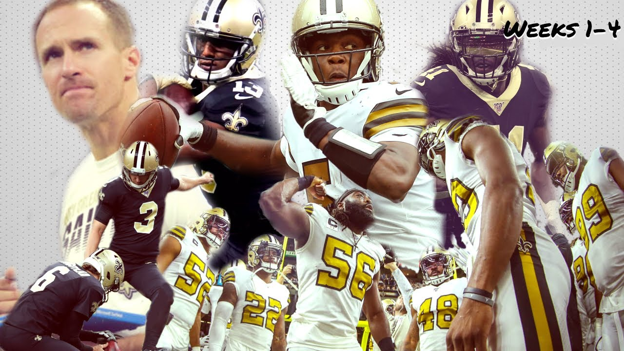 """New Orleans Saints 2019 Highlights (Weeks 1-4)  