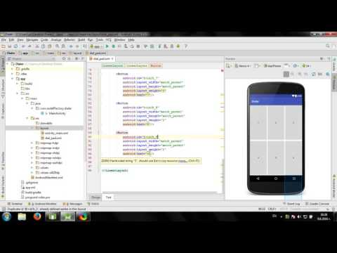 Develop simple Dialer application in Android Studio