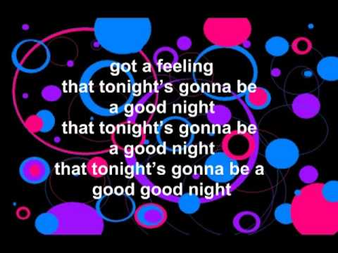 I Got a Feeling Black Eyed Peas LYRICS