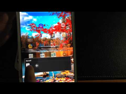 Samsung Galaxy Tab Pro 8.4 Tip How to delete folders from the app drawer