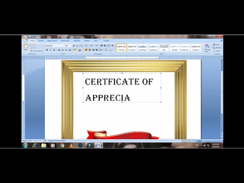 How to make a Certificate using Microsoft Word.