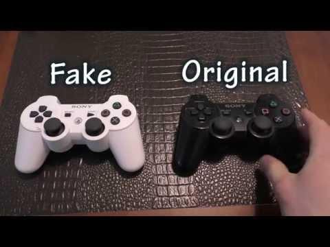 COMPARISON: PS3 Controller - Fake Ebay