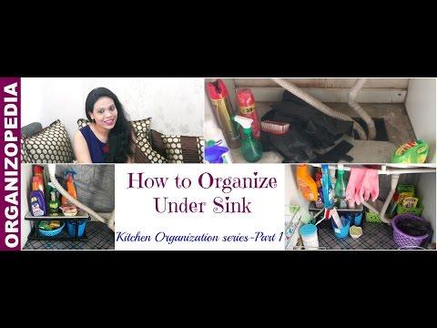 How to Organize Under Sink Area | Kitchen Organization Series: Part 1 | Organizopedia