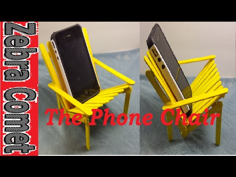 How To Make A Cellphone Holder/Chair (Out Of Popsicle Sticks)