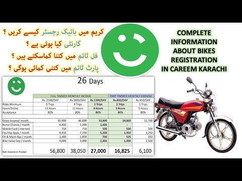 Bike Condition Requirements for Careem in Karachi | Captains Earning for Full Time & Part Time