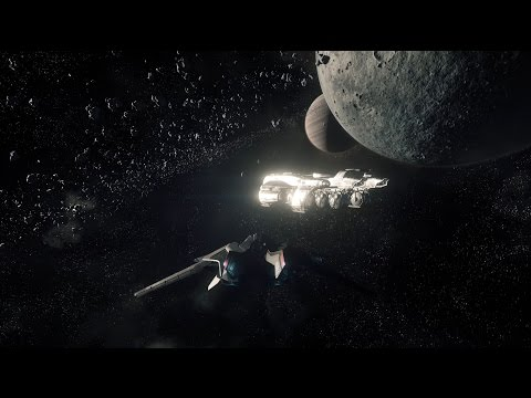Star Citizen Escorting a Starfarer to Grim Hex at Yela in 4k