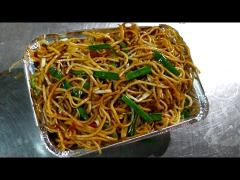 Indian Street Food - Street Food in Mumbai - Schezwan Noodle