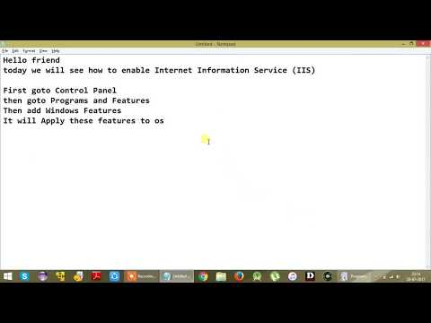 How To enable IIS Service