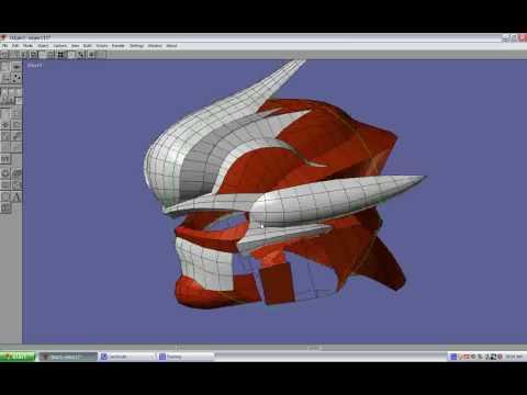 HD Hayabusa Helmet 3d Model - Part 1