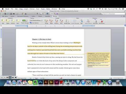 Microsoft Word Track Changes *Quick and Simple*
