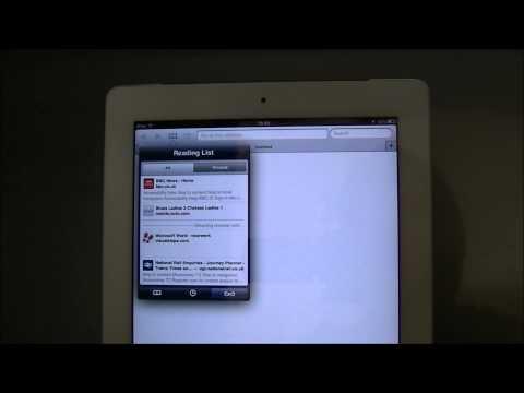 iPad Help   Safari Web Browser Bookmark Icon Features