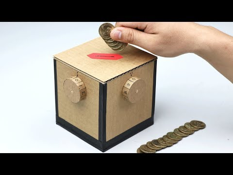 How to Make Safety Coin Box with 4 Digit Password