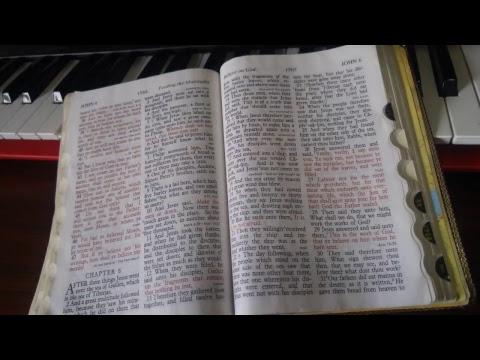 Reading 1st 7 chapters of John's Gospel