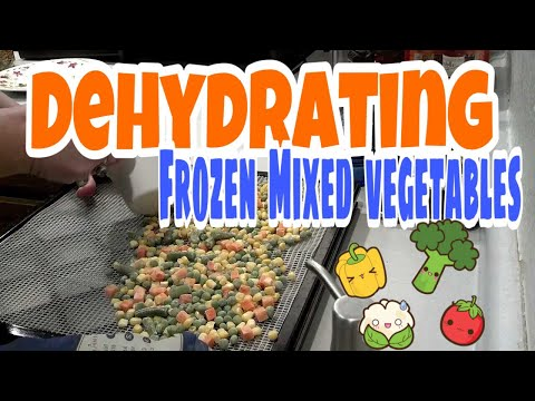 DEHYDRATING frozen mixed vegetables for food storage! Using Excalibur