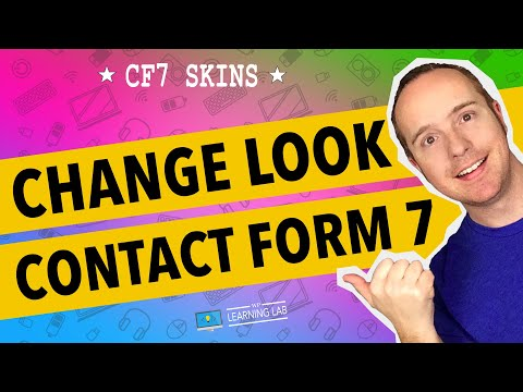 Contact Form 7 Skins To Change Style - No CSS required | Contact Form 7 Tutorials Part 13