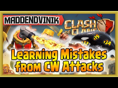 Clash of Clans - Learning Mistakes from CW Attacks (Gameplay Commentary)