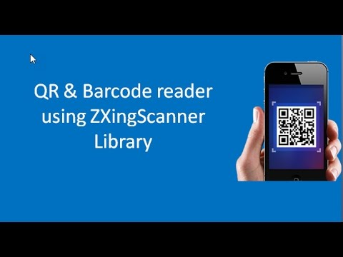 Android Tutorial: Create simple Barcode and QRCode reader using ZXingScanner Library