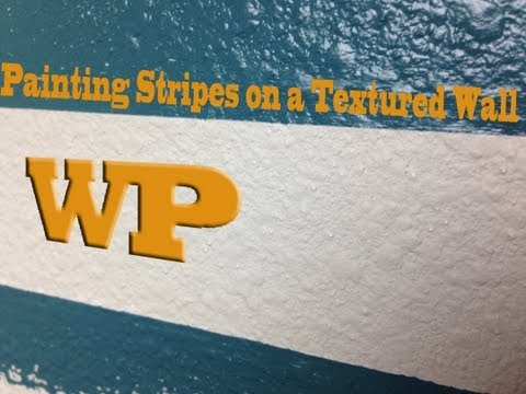 DIY Minute: How to Paint Stripes on a Textured Wall
