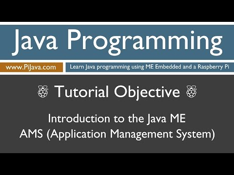 Java Programming on Raspberry Pi - Introduction to the Application Management System (AMS)