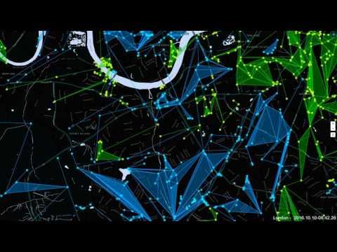 Ingress London 24hr time lapse   10 10 2016