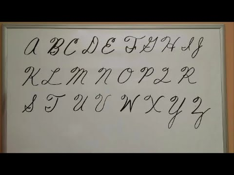 How to Write Cursive Capital Letters - Uppercase Letters - American Handwriting