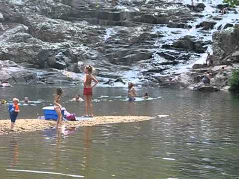 Rocky Falls Missouri conservation area---very large swimming hole
