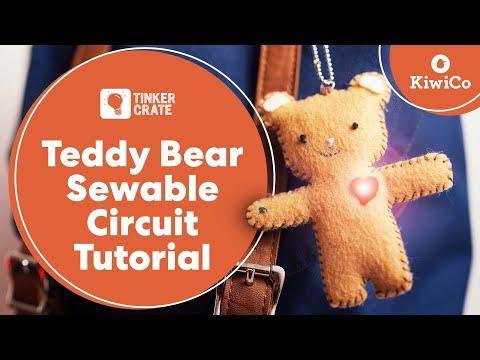 Create a Teddy Bear Sewable Circuit