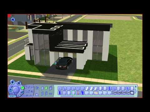Sims 2 - Building a Modern House