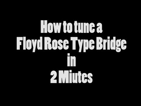 How to Tune a Floyd Rose Type Bridge in 2 Minutes