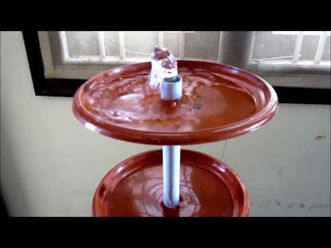DIY PVC||PLASTIC WATER FOUNTAIN with Recycling Plastic material(Home decoration)