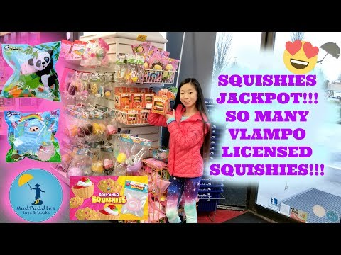 LICENSED SQUISHIES AND SLIME JACKPOT AT MY LOCAL TOY STORE!!! VLAMPO, SOFT N SLO SQUISHIES AND MORE!