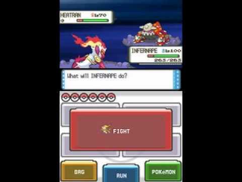 Pokemon Diamond and Pearl-Catching Shiny Heatran