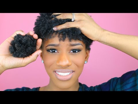 How To Go Natural WITHOUT doing the BIG CHOP in 4 Easy Steps!