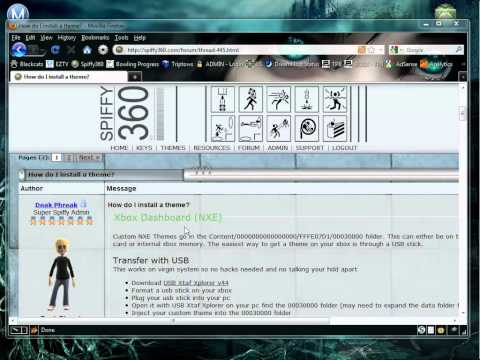 How to create and install an Xbox 360 NXE Dashboard Theme