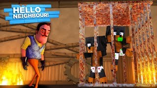 Minecraft HELLO NEIGHBOR - THE NEIGHBOR HAS DONUT & BABY MAX TRAPPED IN HIS BASEMENT!!!!