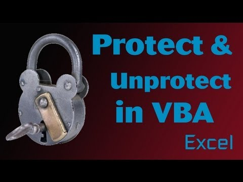 Excel VBA Tips n Tricks #23 Unprotect and Protect, Passwords and Features