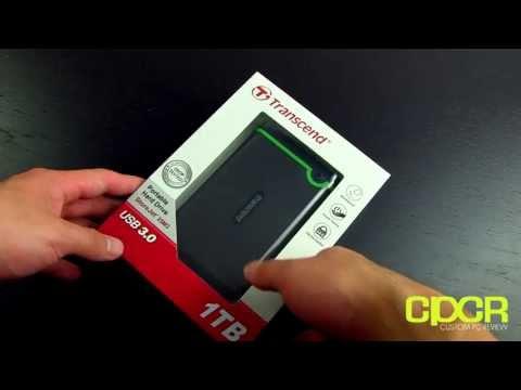 Transcend StoreJet 25M3 1TB USB 3.0 Ruggedized Portable Hard Drive Unboxing + Written Review