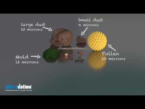 What is Indoor Air Pollution Relative Particle Size