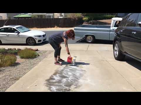 Clean Lola Clean: 1963 Chevy Leaked Oil In The Driveway