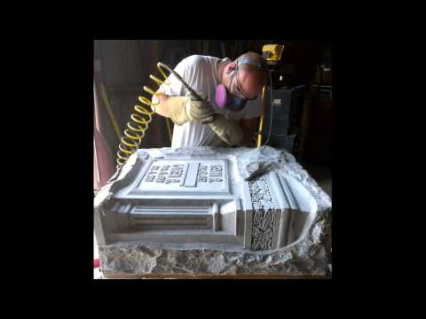 The 58 Second Hand Carved Granite Monument