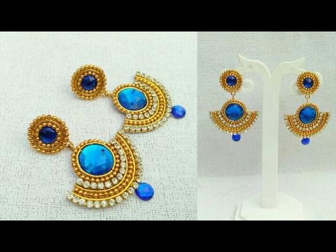 How To Make Designer Earrings Paper Jewellery
