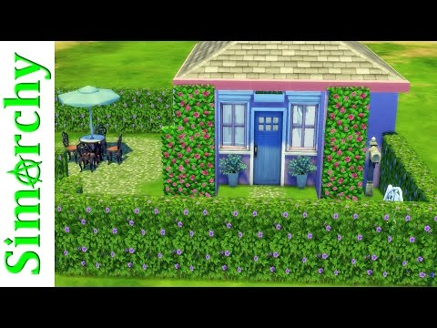 The Sims 4 Speed Build - Tiny Living Cottage - 5x5 Tiny Home / House with Beautiful Garden