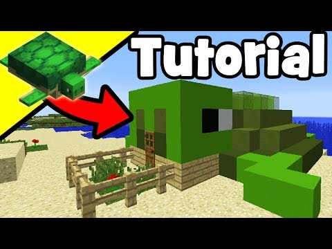 Minecraft Tutorial: How To Make A Turtle House