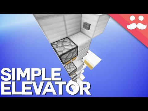 The Simplest Multifloor Piston Elevator in Minecraft 1.9