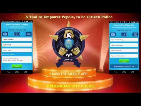 HAWK EYE MOBILE APP FEATURES - HYDERABAD POLICE