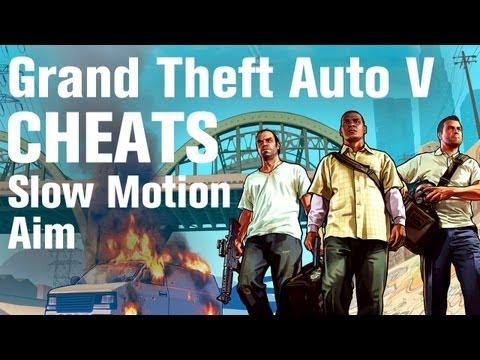 GTA 5 Cheats - Slow Motion Aim