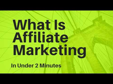 What Is Affiliate Marketing In Under 2 Minutes