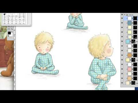 Take Me Too - Picture book Illustration process time lapse