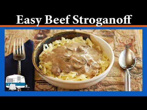 Beef & Mushroom Stroganoff made in a slow cooker